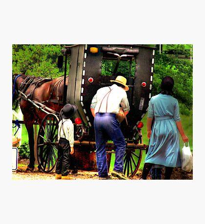 Amish Family Photographic Print