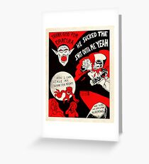 Thanks Drac - Black White and Red All Over Greeting Card