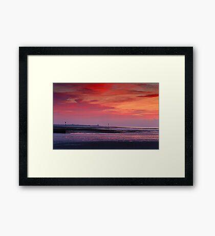 Evening Glow Framed Print