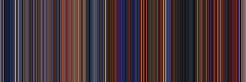 Moviebarcode: The Hunchback of Notre Dame (1996) [Simplified Colors] by moviebarcode