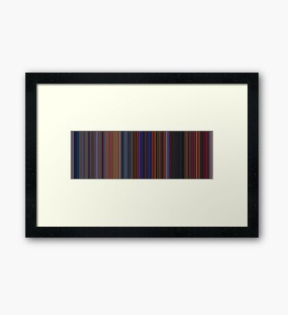 Moviebarcode: The Hunchback of Notre Dame (1996) [Simplified Colors] Framed Print