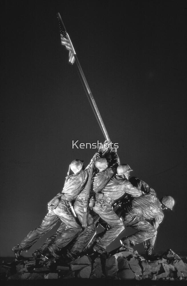 Iwo Jima 9 BW by Kenshots