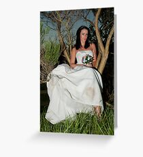 Bride in a Tree Greeting Card