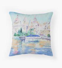 Maltese Harbour Throw Pillow
