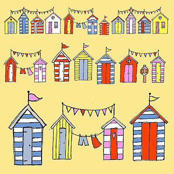 lots of beach huts by WendyMassey