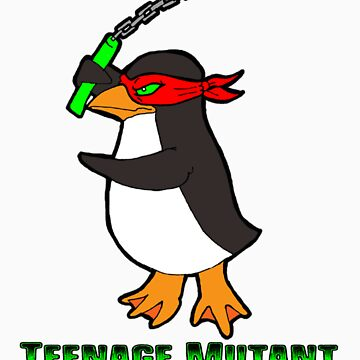 Teenage Mutant Ninja Penguin by ZombieRodent