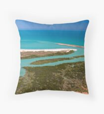 Of Greens and Blues Throw Pillow