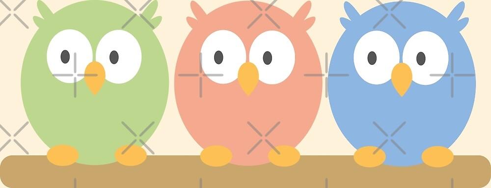 three owls by Mimmi95