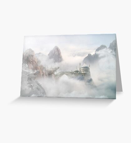Palace of the Sky Dragons Greeting Card