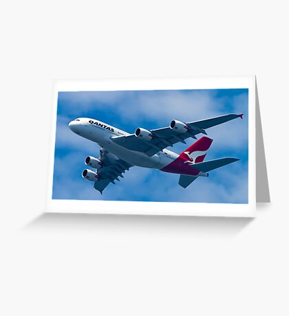 Qantas A380 Greeting Card