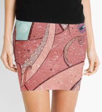 Tangled Ocean Octopus Mini Skirt