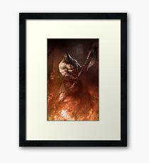 Infernal executioner Framed Print