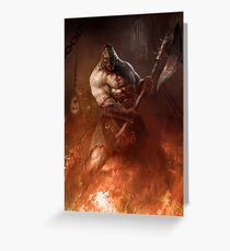 Infernal executioner Greeting Card