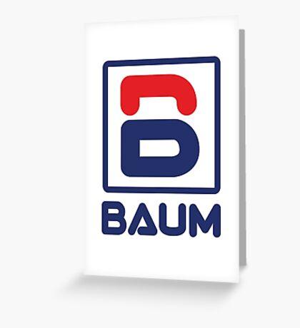 Richie Tenenbaum (Royal Tenenbaums) 'BAUM' Shirt  Greeting Card