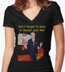Bob Barker Spay or Neuter Your Pet Women's Fitted V-Neck T-Shirt