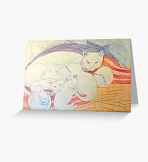 colored pencil on paper Greeting Card