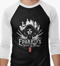 Edward's Salon and Topiary - Edward Scissorhands Men's Baseball ¾ T-Shirt