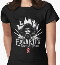 Edward's Salon and Topiary - Edward Scissorhands Women's Fitted T-Shirt