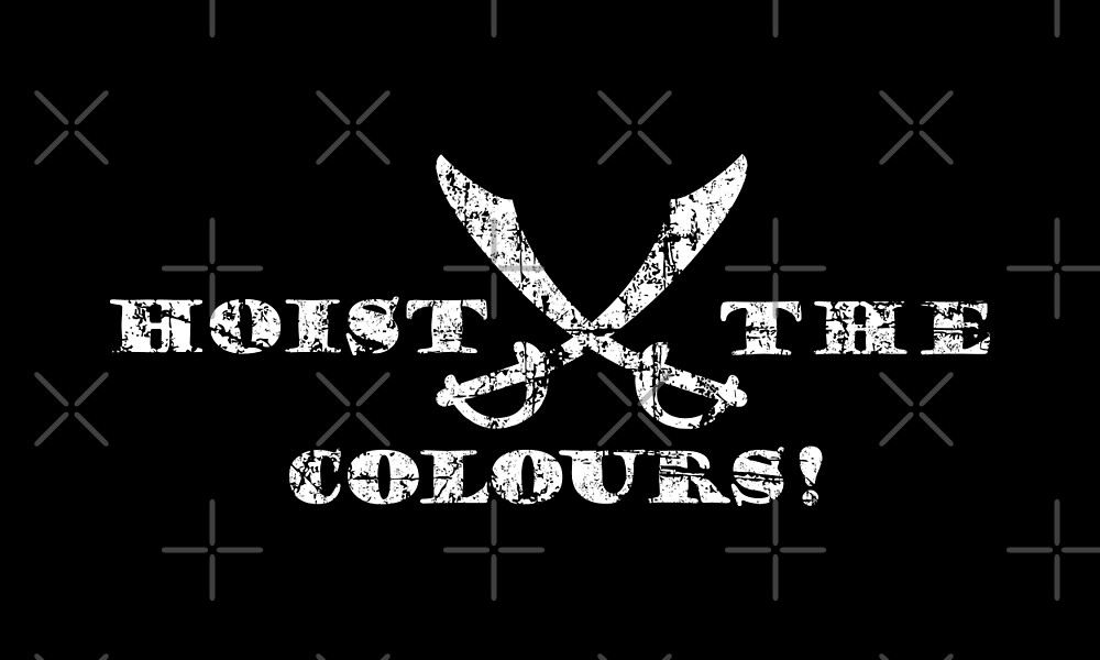 Hoist the Colours Pirate Sabers Vintage White by theshirtshops
