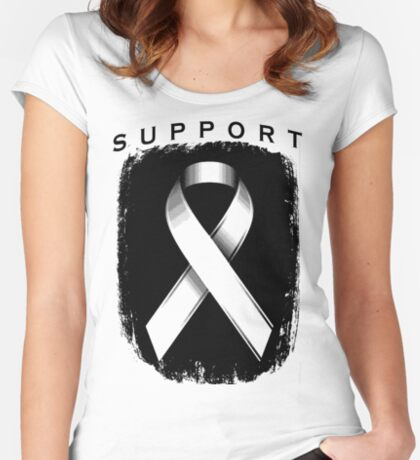 Support Ribbon (personlized color) Women's Fitted Scoop T-Shirt