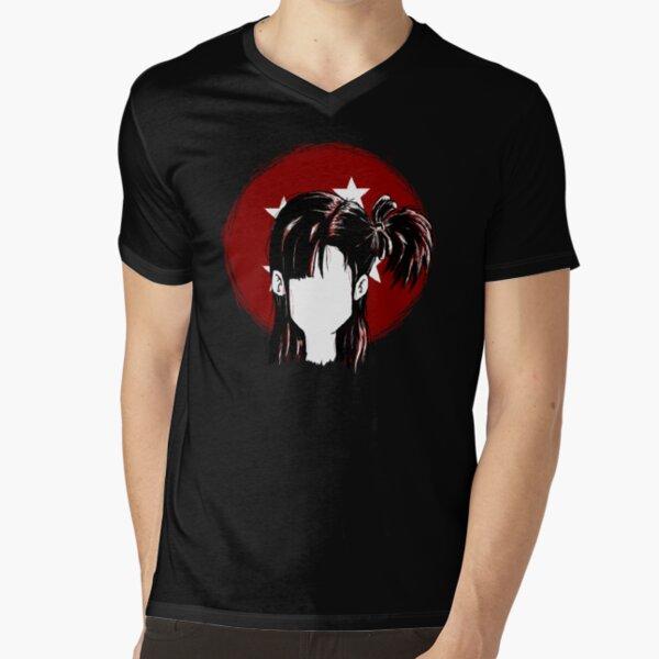 DBZ Bulma Briefs Hair illustration V-Neck T-Shirt