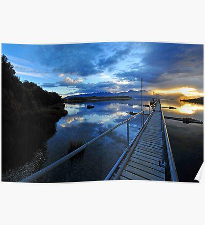 Lake Te Anau sunset. South Island, New Zealand. (2) Poster