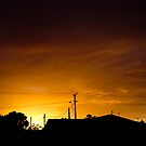 Sunset between the Stormfront by Cameron Lundstedt