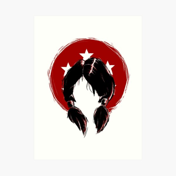 DBZ Videl Hair illustration Art Print