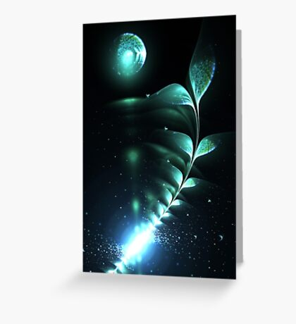 Alien Plant - Abstract Fractal Artwork Greeting Card