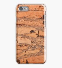 Brown cork material texture iPhone Case/Skin