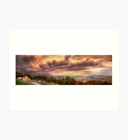 Swiss Storm Cell Panorama Art Print
