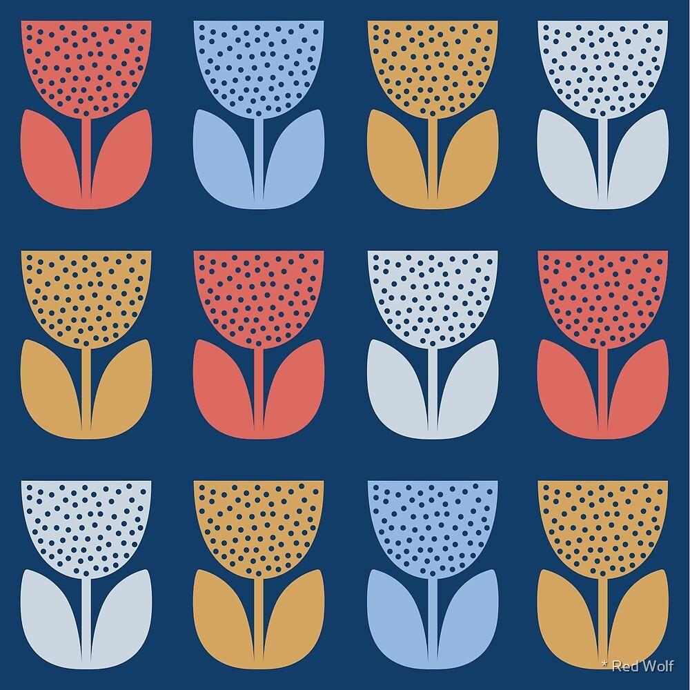 Geometric Pattern: Poppy: Coastal by * Red Wolf