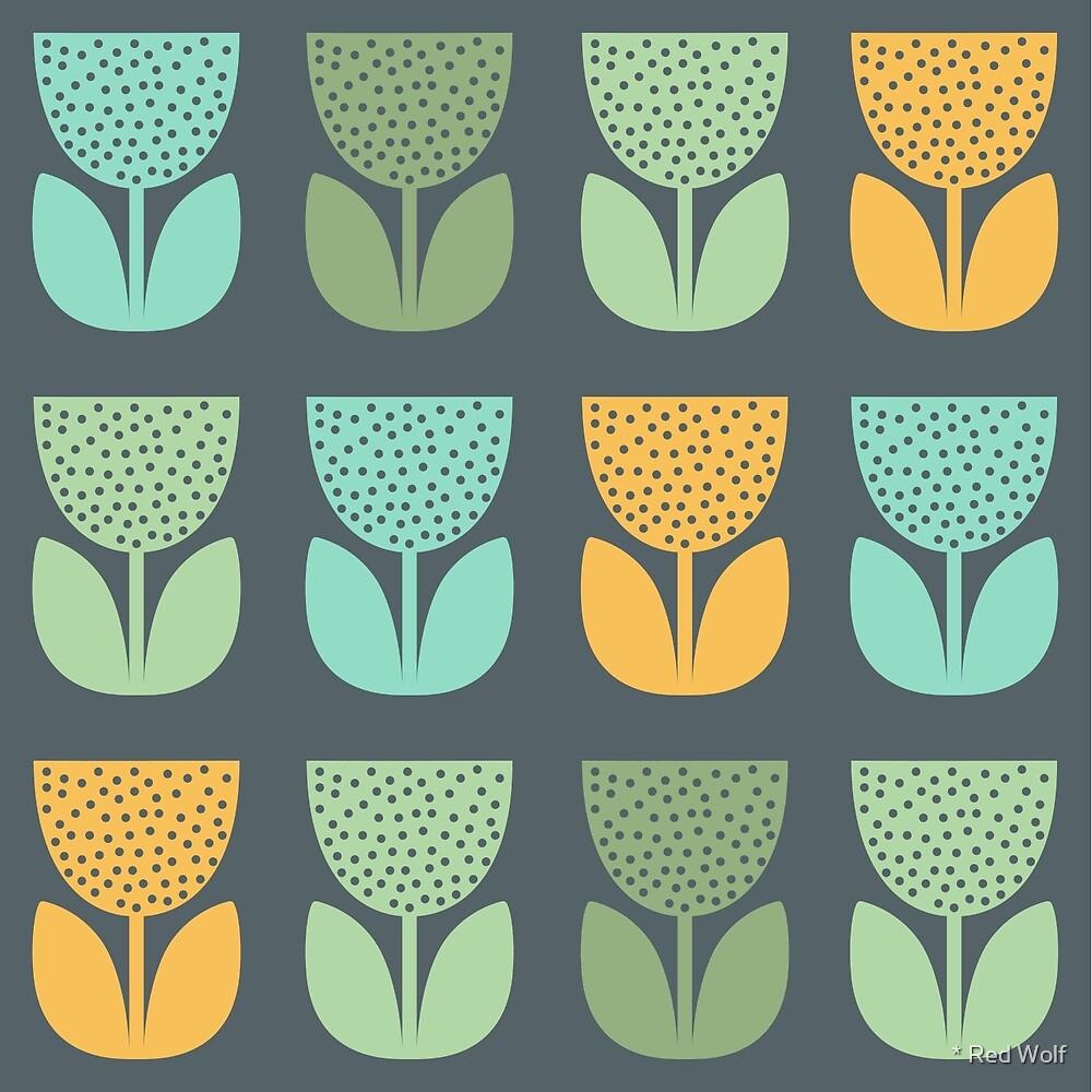 Geometric Pattern: Poppy: Spring by * Red Wolf