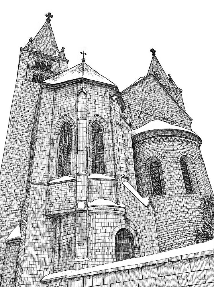 St. George's Basilica (lineart) by Matěj Čadil