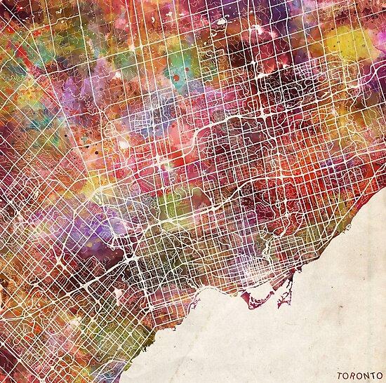 Toronto map by MapMapMaps