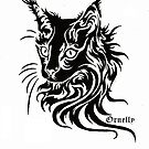 Black Pen Cat by Ornelly Smile