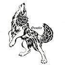Black Pen Wolf by Ornelly Smile
