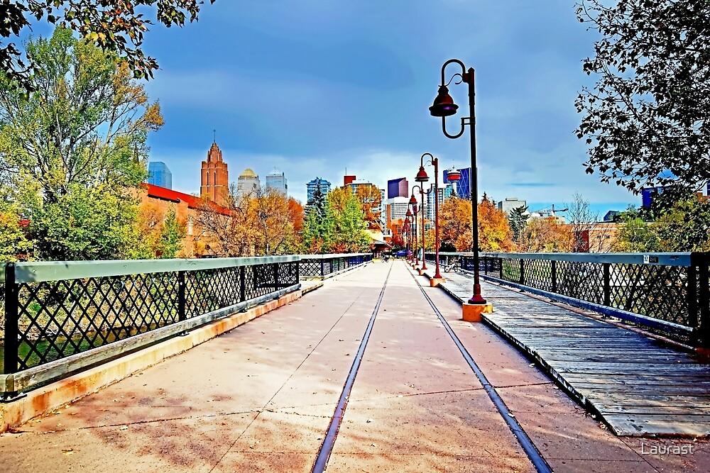 Old Calgary Train Bridge - Downtown SW  by Laurast