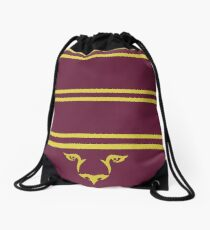 The red scarf Drawstring Bag