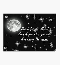 Reach for the Moon- Card Photographic Print