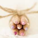 Soft Pink Pencils by Evelyn Flint