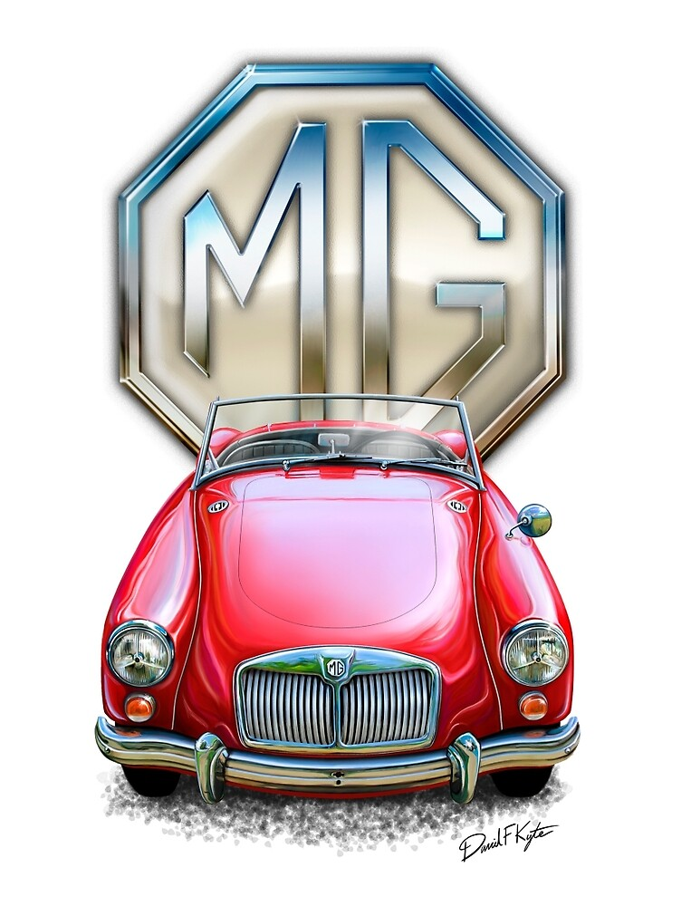 MGA Sportscar Red by davidkyte