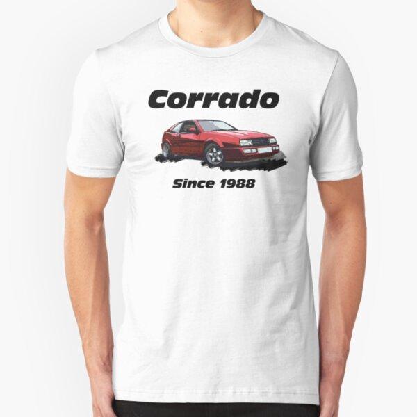 Corrado Since 1988 Modern Retro Rides Red Black Slim Fit T-Shirt