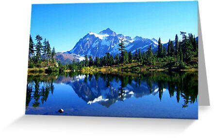 """""""Mount Shuksan and Picture Lake in the Fall"""" by Lynn Bawden"""