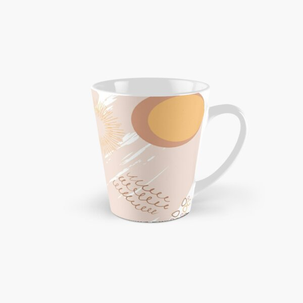 Abstract Tan Vibes Tall Mug