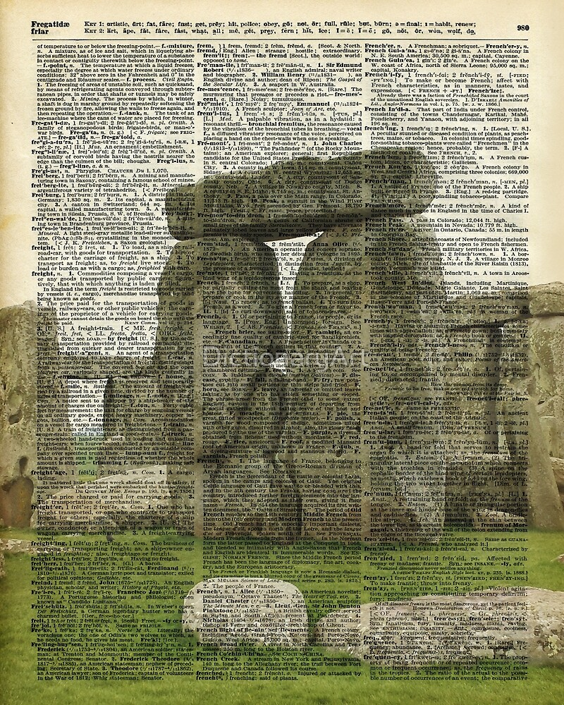 Stonehenge Magic Place Vintage Collage Dictionary Art by DictionaryArt