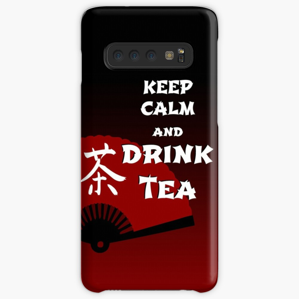 Keep Calm and Drink Tea - dark asia edition Case & Skin for Samsung Galaxy