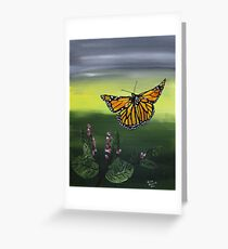 Monarch Landing Greeting Card