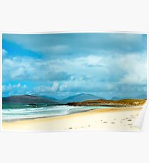 Landscape, Traigh Mhor beach, South Harris, Western Isles, Scotland Poster