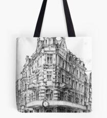 Old Torun street and crowf Tote Bag
